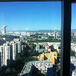 窗外奥运公园景色