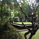 酒店的院子