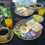 酒店送的早餐