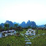 阳朔东岭山顶的世外桃源