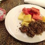 水果和韩国烤肉