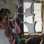 客房中不多见的圆形线条装饰