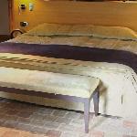 豪华房中色调和谐的大床