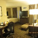 简单一居室的客房,可以会客,有写字台,电视很棒也可以旋转角度