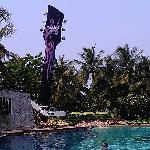 酒店房间望到泳池和海滩