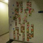 走廊留言墙