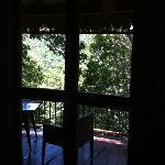 孔雀房,露台被树挡住了