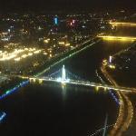 在广州塔上看到的珠江夜景