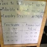 前往海滩的免费车时间表