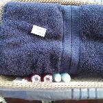 毛巾与免费浴液
