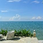 酒店前面就是大海,看着很美,其实巨晒。。
