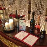 意大利餐厅的浪漫马天尼气泡酒