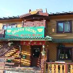 风景如画的挪威峡湾小镇Geilo..Norway,CHINA RESTAURANT.金宝饭店,中国餐馆。