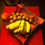 第一天送的欢迎水果
