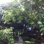 远景小木屋区的入口