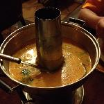 泰餐厅的鲜虾东阴功汤