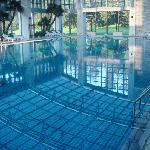 泳池很干净