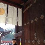 神社的木门