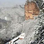 冬天的麦积山