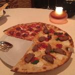 牛肉丸和鸡肉双拼pizza