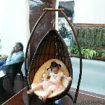 酒店大厅处的摇篮