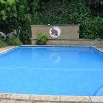 小泳池,不大