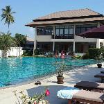 泳池和reception