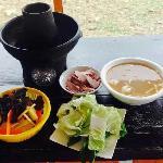 火锅和牦牛肉