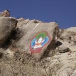 帕邦喀寺后山的石刻