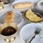 雪人酒店的早餐。