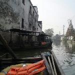 坐船游木渎古镇