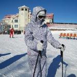 亚布力滑雪的国际友人