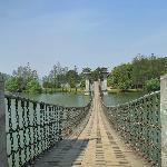 东湖落雁岛的吊桥