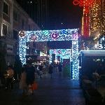 欧式风情街夜景
