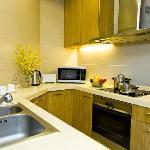 豪华一房式公寓-厨房