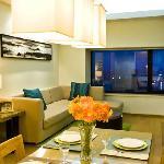 豪华一房式公寓-客厅