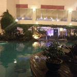 宾馆的泳池很漂亮