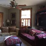 Spacious sitting room in suite