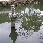 何山公园里的水池