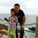 和儿子一起去的大陈岛