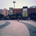 阴天的广场
