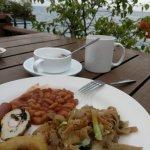 可以坐外面早餐