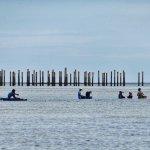 Bajau fishermen under sun