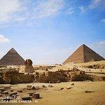 기자의 피라미드의 사진