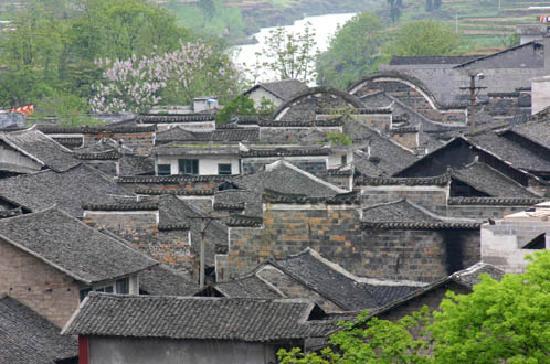 Youyang County, China: 龙潭古镇一角