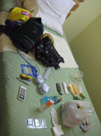Home Inn (Lanzhou Pedestrain Street) : 就睡在这张床上,就在一边的墙角,有蚊子的死尸