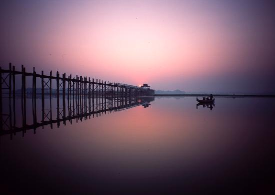 Amarapura, Myanmar: 乌本桥|U Bein Bridge