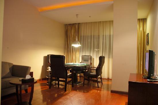 Gangwan Business Hotel : 酒店一楼和二楼为棋牌房,为客人提供休闲和娱乐。