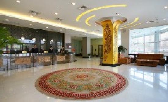 Motel 168 Shanghai Qilianshan South Road Cao'an Qingfang Market: 酒店前台
