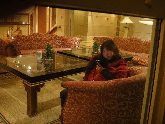Sheraton Jiuzhaigou Resort: 我们家猫头在大堂:)